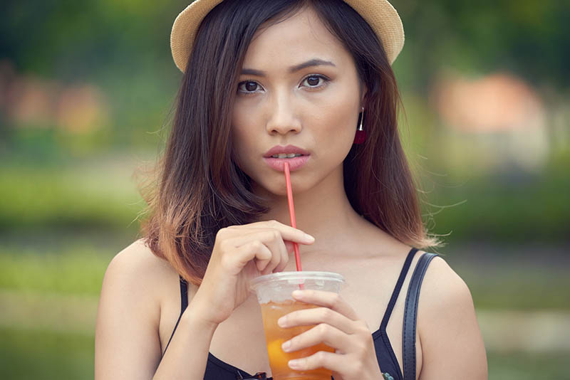 risk of tooth decay drinking iced tea